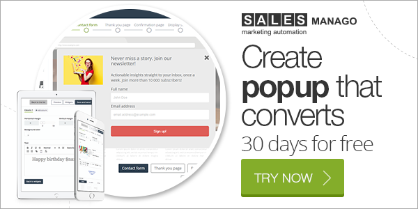 Create popup that converts