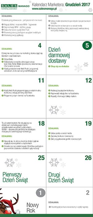 Kalendarz Marketera: Grudzień 2017