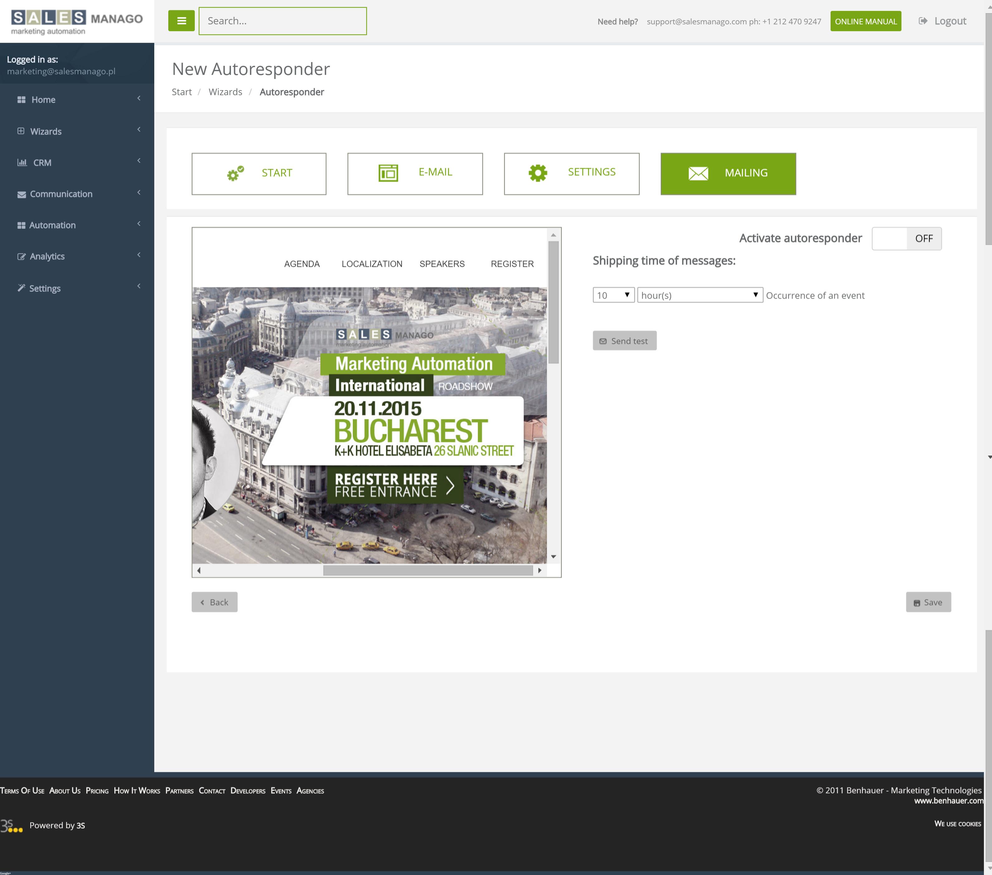 Dashboard Assistenten für dynamische Inhalte von SALESmanago eCommerce NextGen