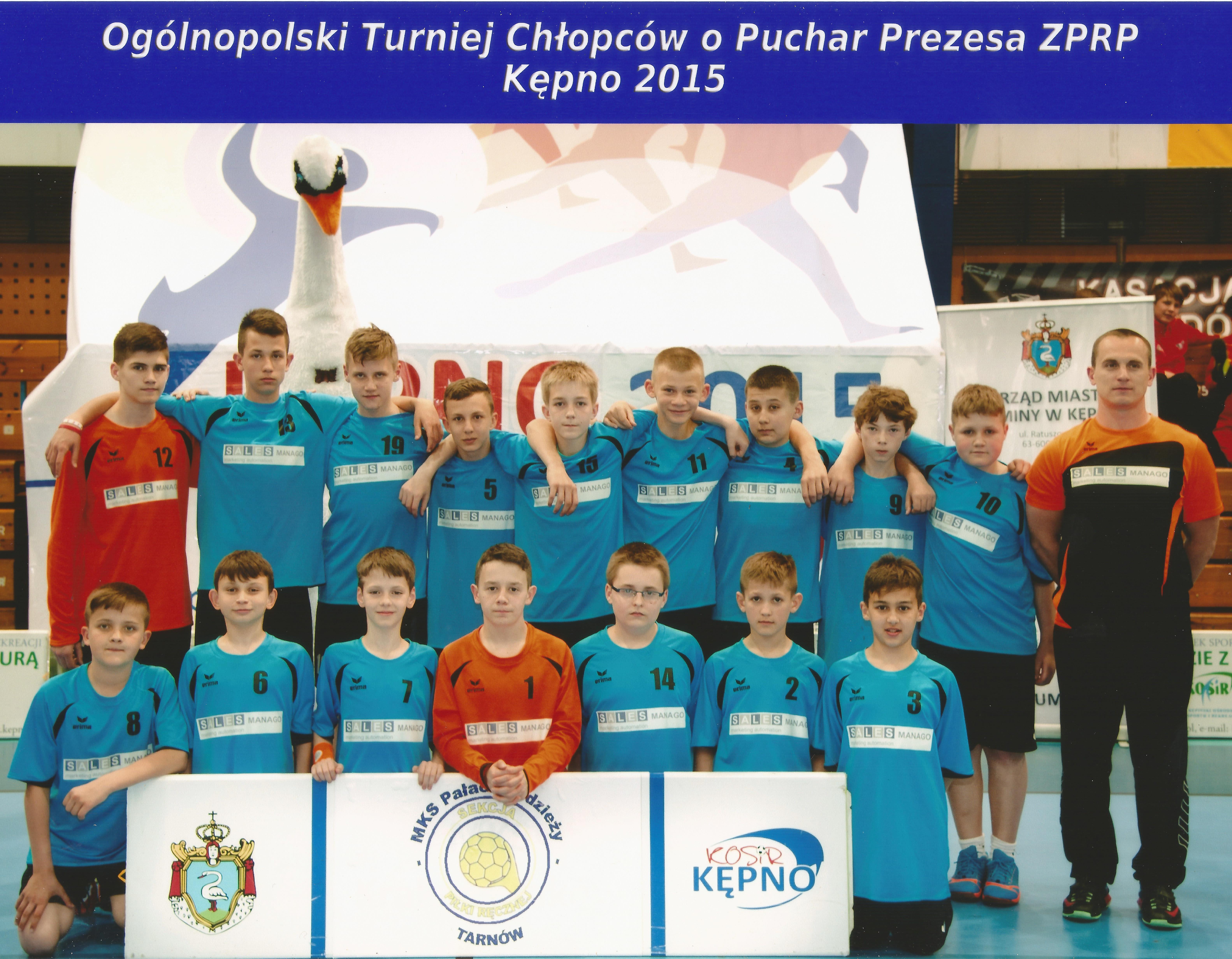 Sekcja młodzieżowych piłkarzy ręcznych SPR w Tarnowie - V miejsce