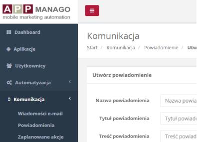 Dashboard kreatorów dynamicznych treści SALESmanago eCommerce NextGen
