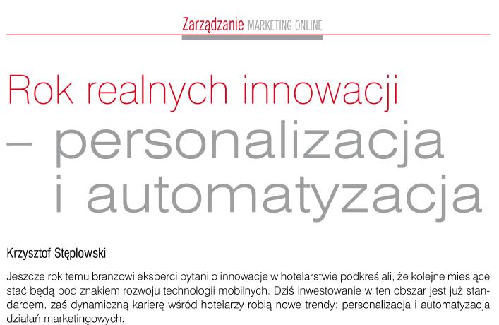Rok realnych innowacji – personalizacja i automatyzacja