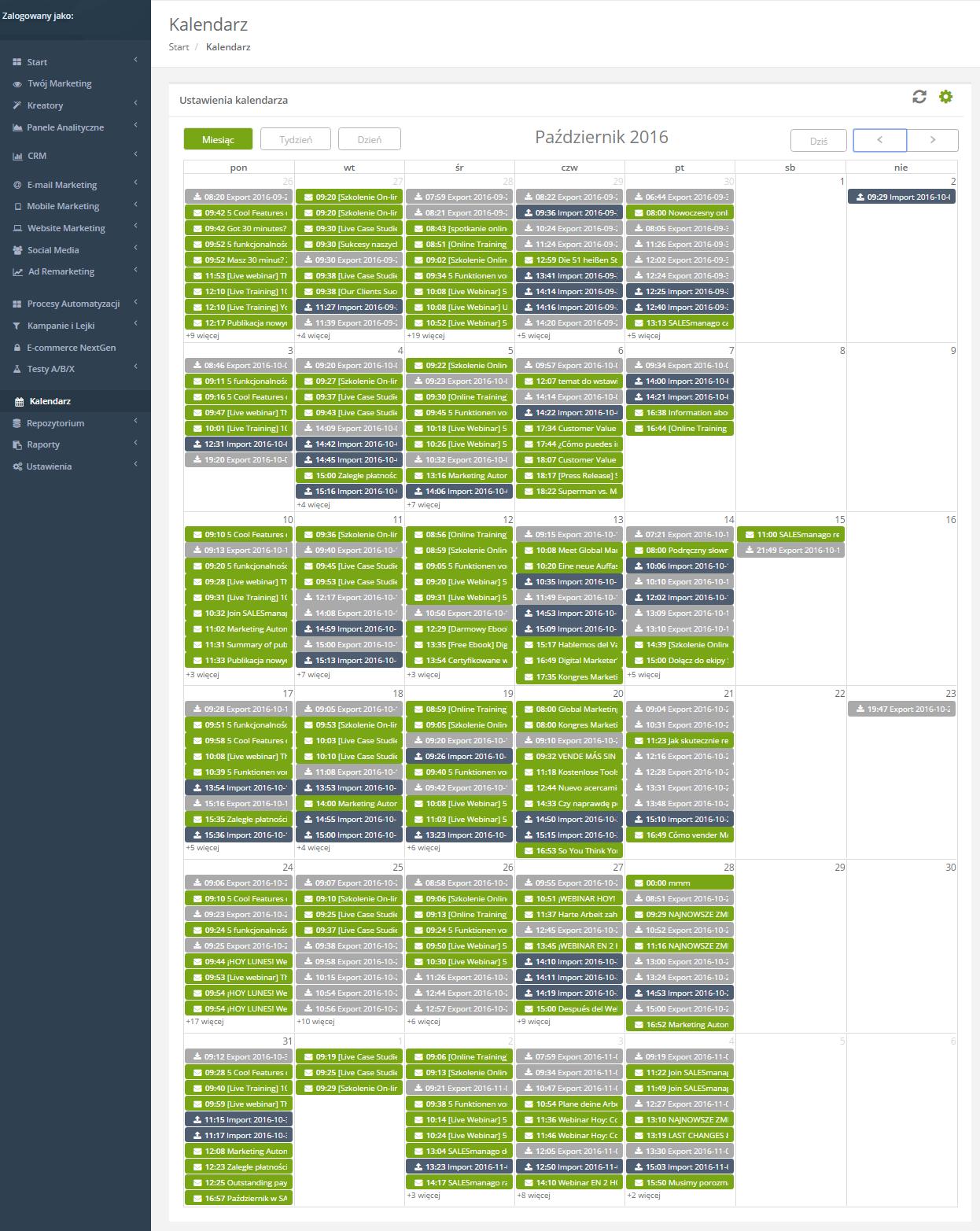 Kalendarz SALESmanago