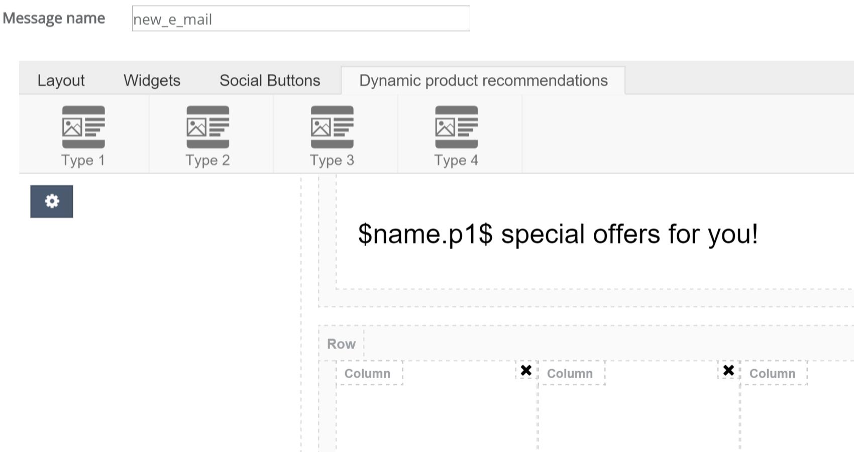 Kreator dynamicznych wiadomości e-mail - widgety dodające dynamicznie personalizowane produkty