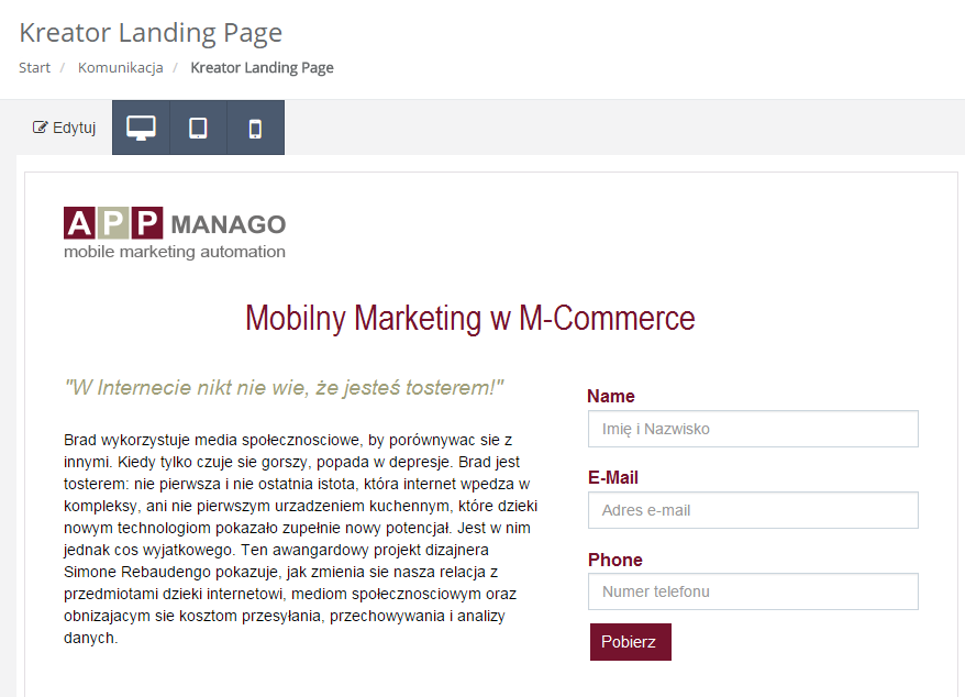 Silnik rekomendacji eCommerce NextGen SALESmanago Marketing Automation - mechanizm next best offer