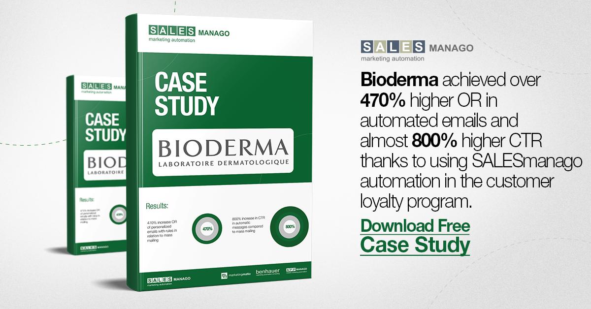 Bioderma SALESmanago Marketing Automation effects