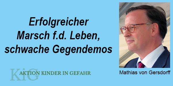 Marsch für das Leben 2020 am 19.09 in Berlin erfolgreich/Gegendemos konnten wenig mobilisieren