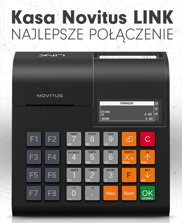 Kasa Novitus LINK - NAJLEPSZE POŁĄCZENIE