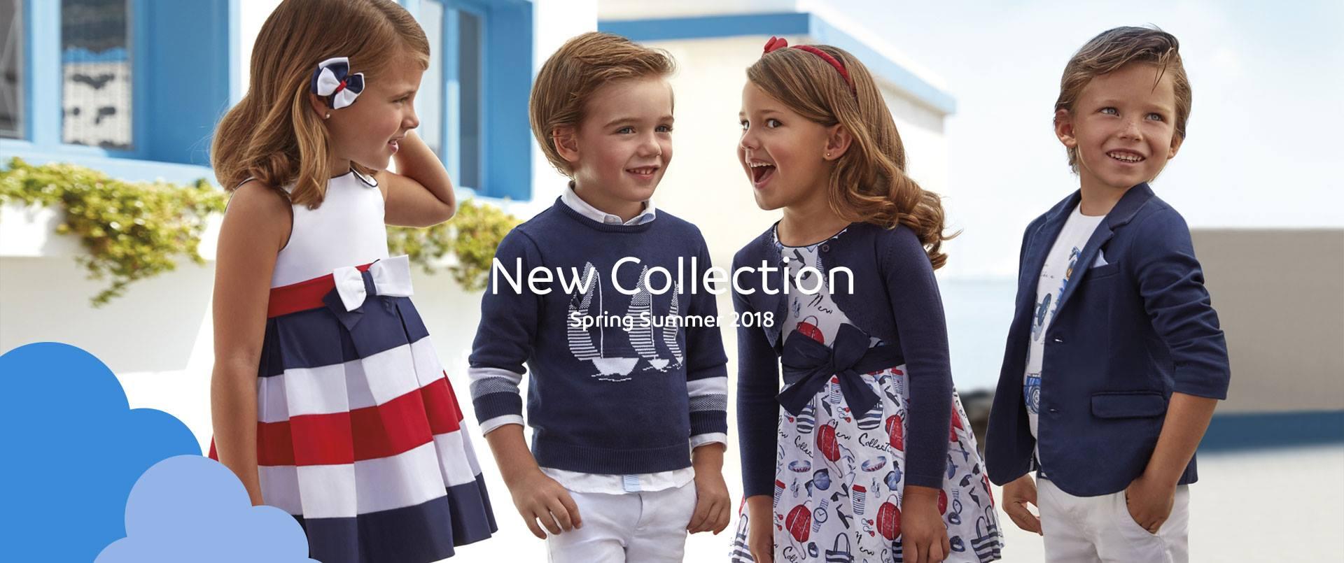 Nowa kolekcja Mayoral dostępna już w sklepach Smykoland. Ubrania dla dzieci w kazdym wieku od niemowlaków po 9 letnie dzieci. Najnowsza kolekcja wiosna/lato 2018 już w sprzedaży.