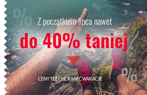 Z początkiem lipca nawet do 40% taniej! Ceny też chcą mieć wakacje.