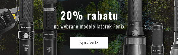 20% rabatu na wybrane modele latarek Fenix.