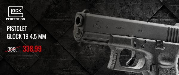 Pistolet Glock 19 4,5 mm cena regularna: 399,- cena promocyjna 338,99