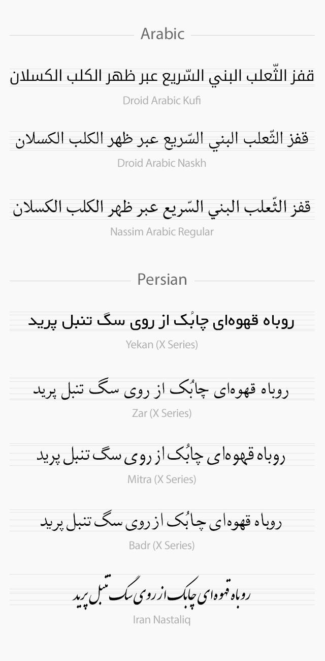Arabic vs Persian