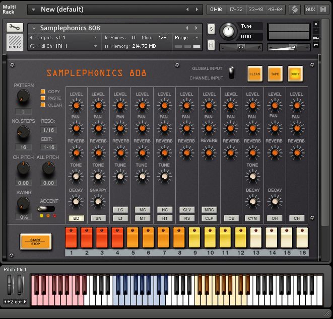 Download 808 Drum Samples | 808 Sampler Library | Kontakt