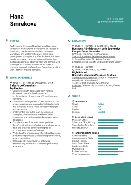 consulting    business resume samples from real