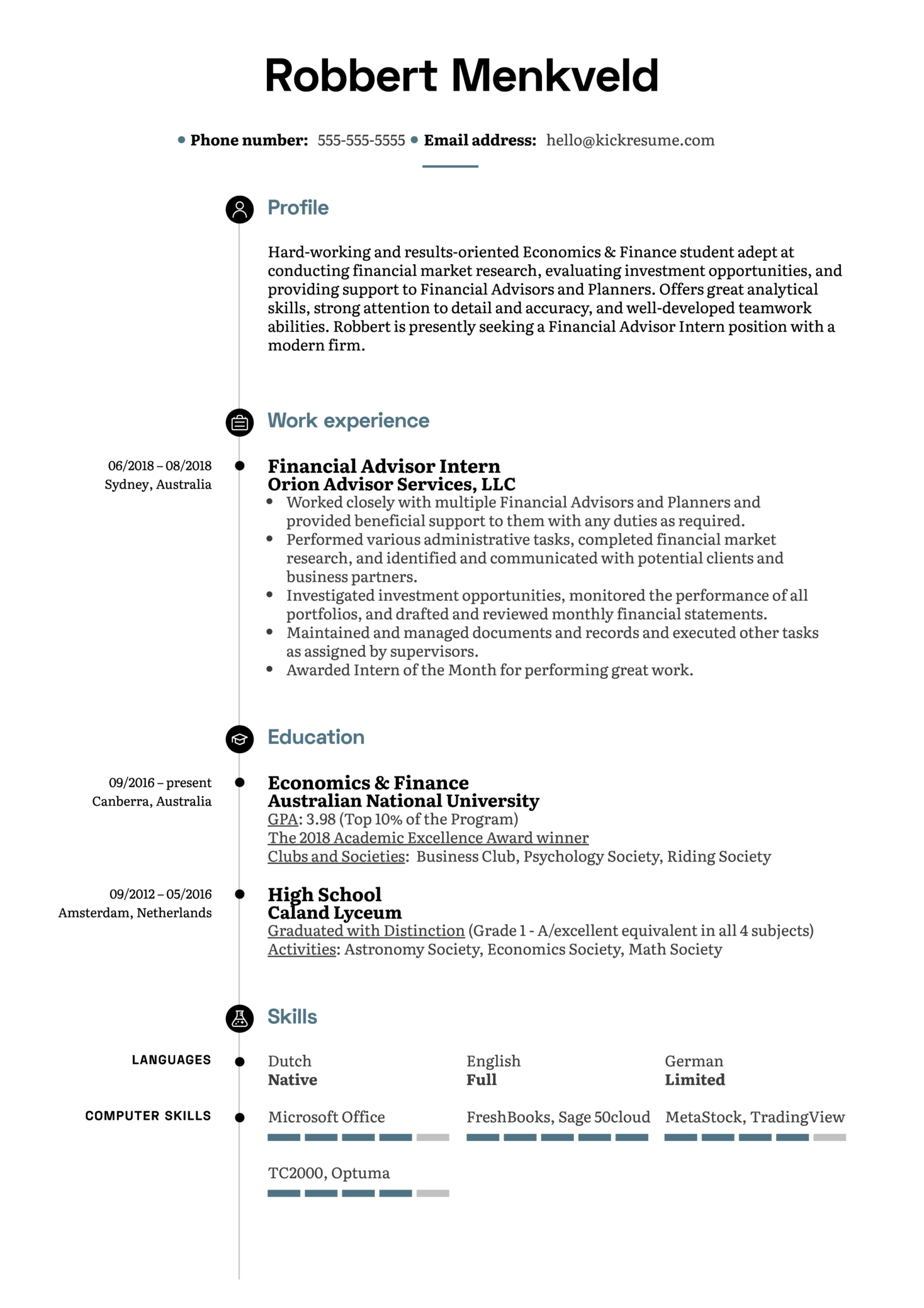 Resume Examples by Real People: Financial Advisor Intern ...