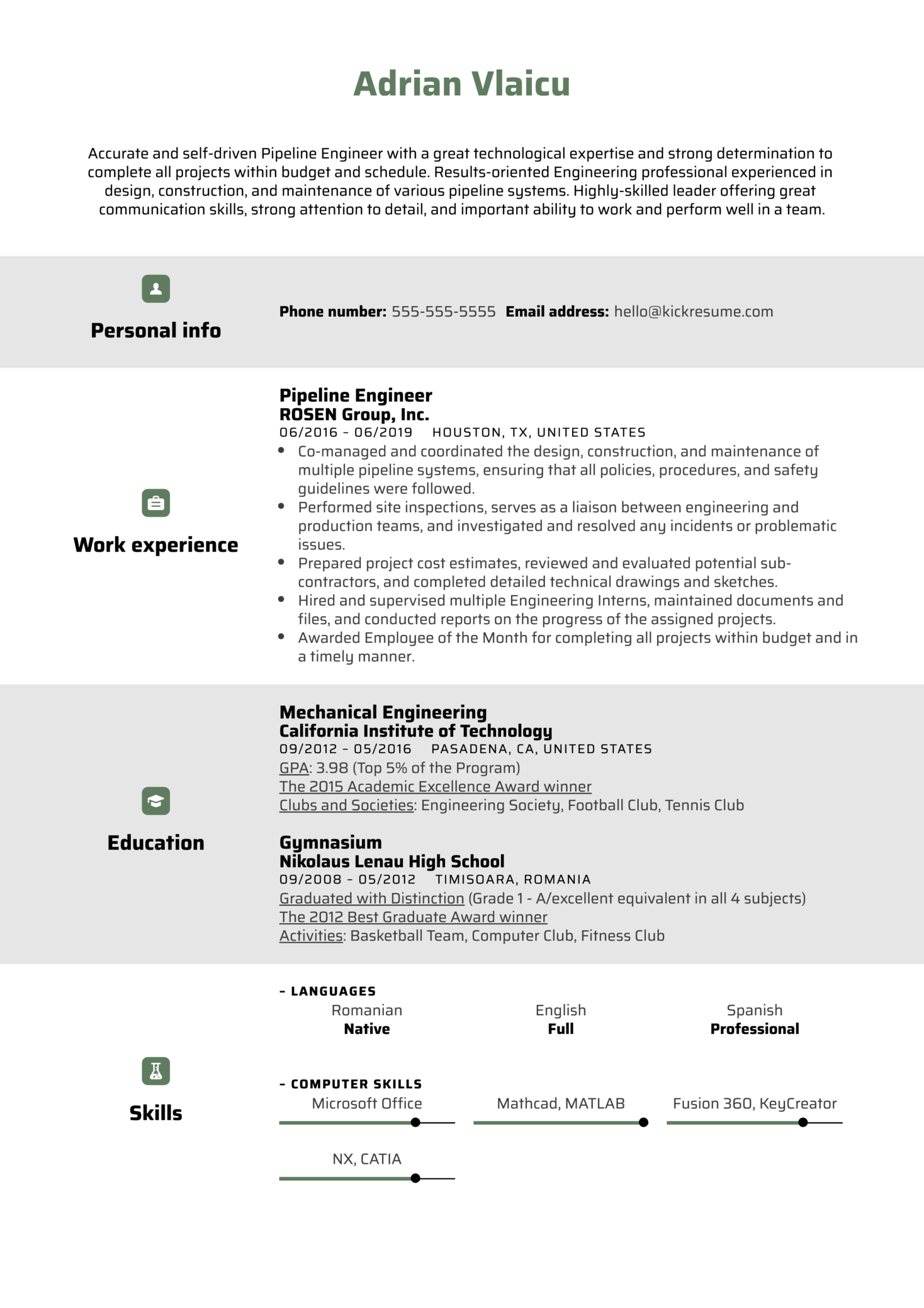Pipeline Engineer Resume Sample (parte 1)