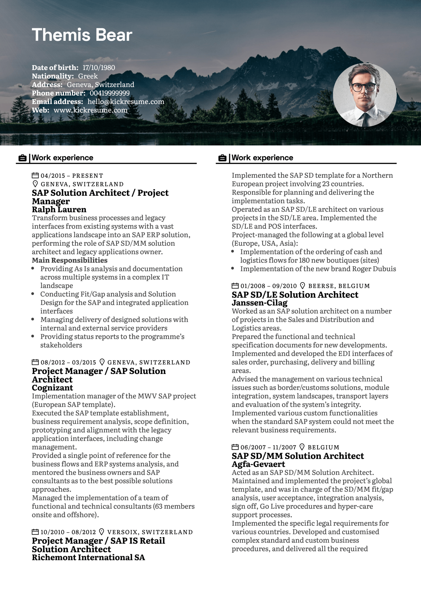 Resume Examples by Real People: Project manager resume sample ...
