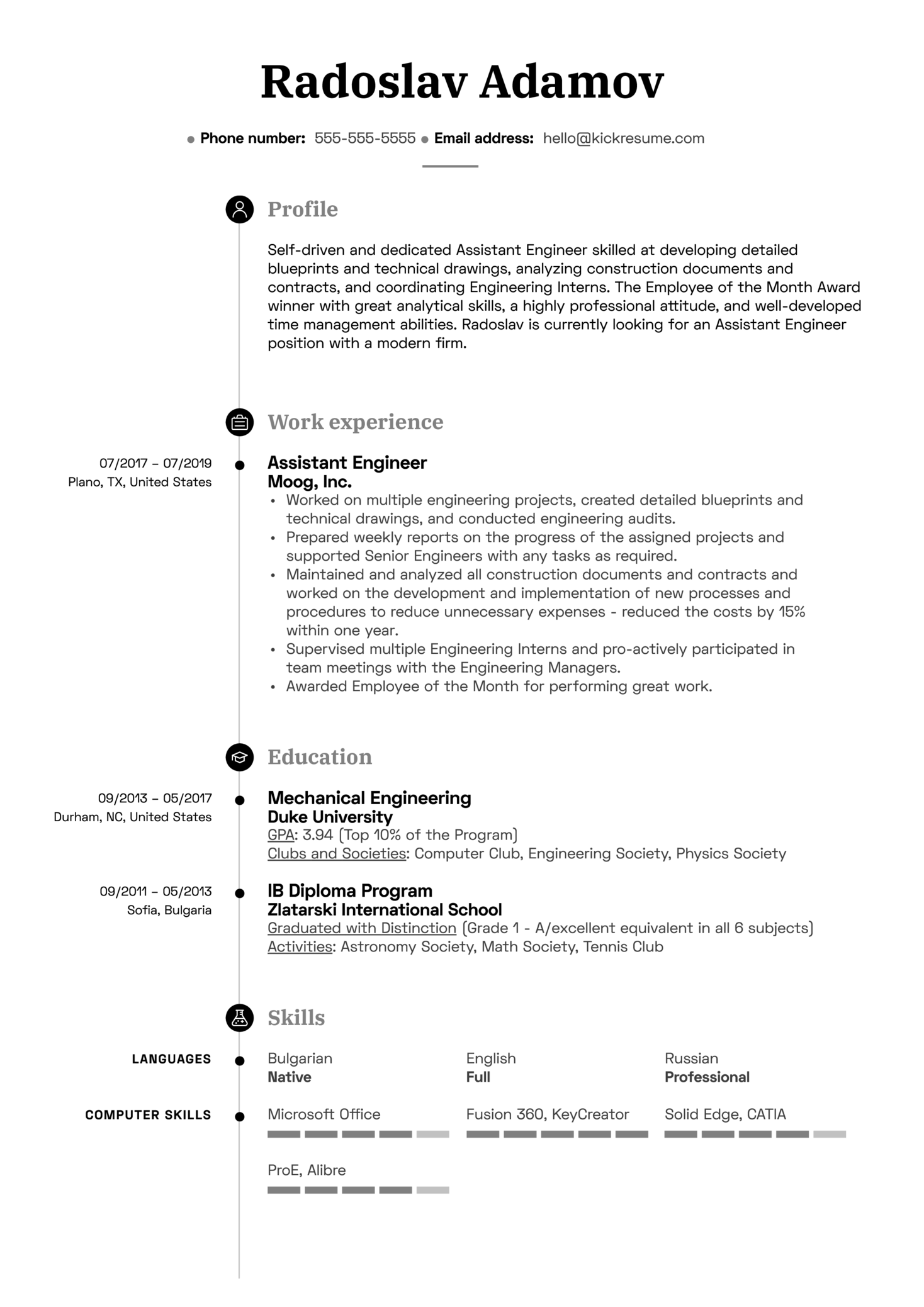 resume examples by real people  assistant engineer resume