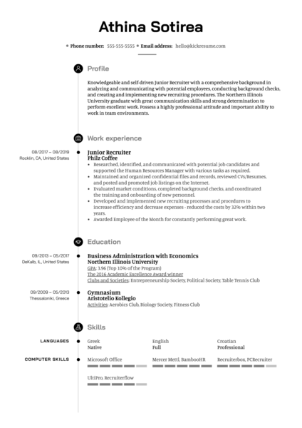 human resources resume samples  page 2