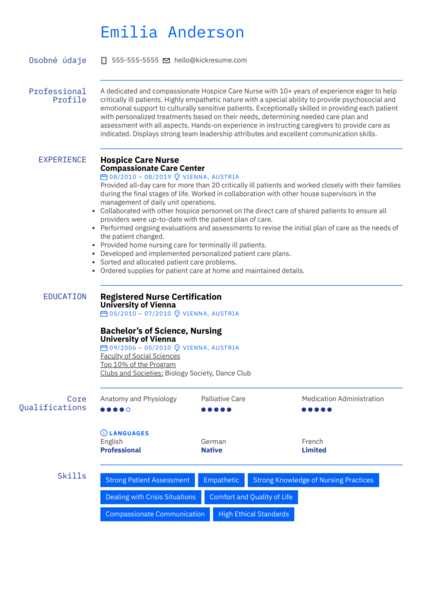 Hospice Care Nurse Resume Sample