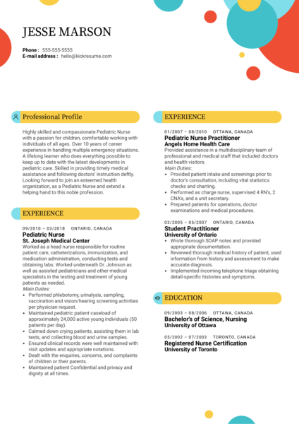 nurse    healthcare resume samples from real professionals