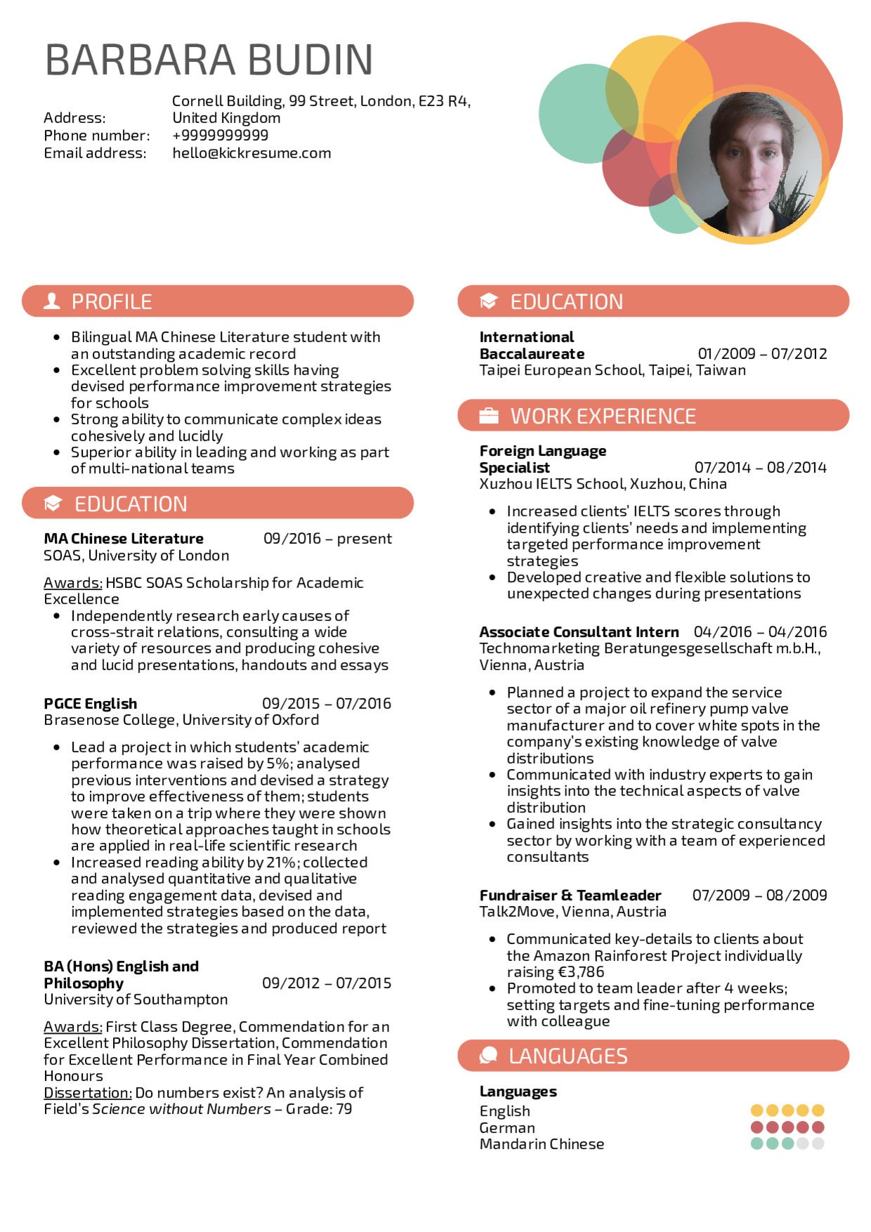 Business strategy executive resume example