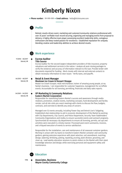 Real Estate Resume samples Career help center