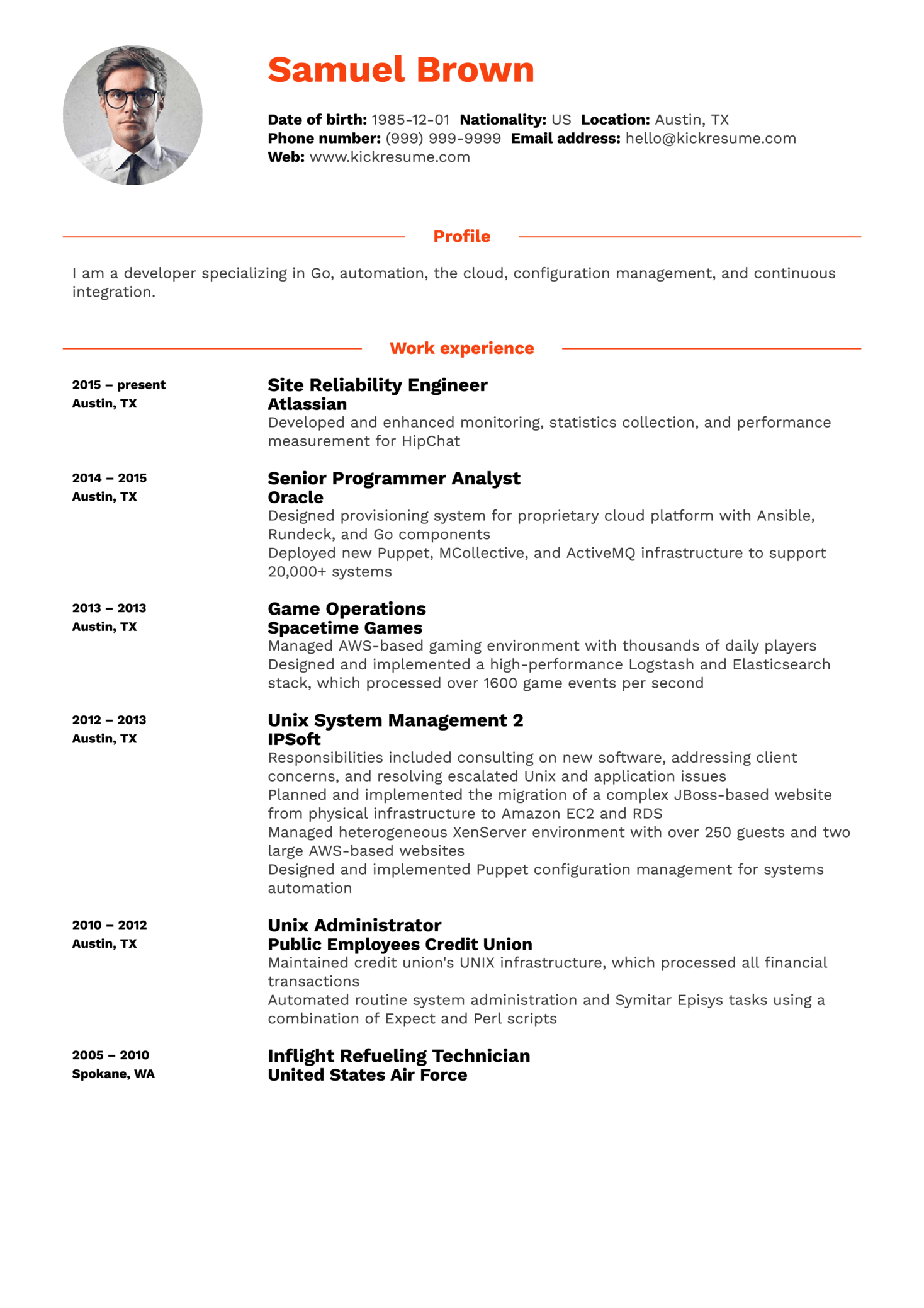 resume examples by real people  it developer engineer