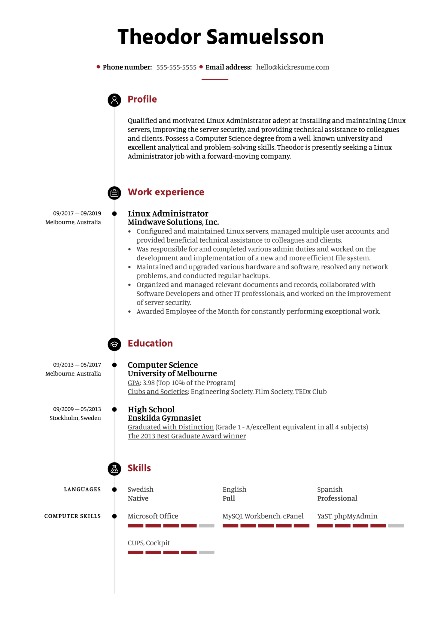 resume examples by real people  linux administrator resume sample