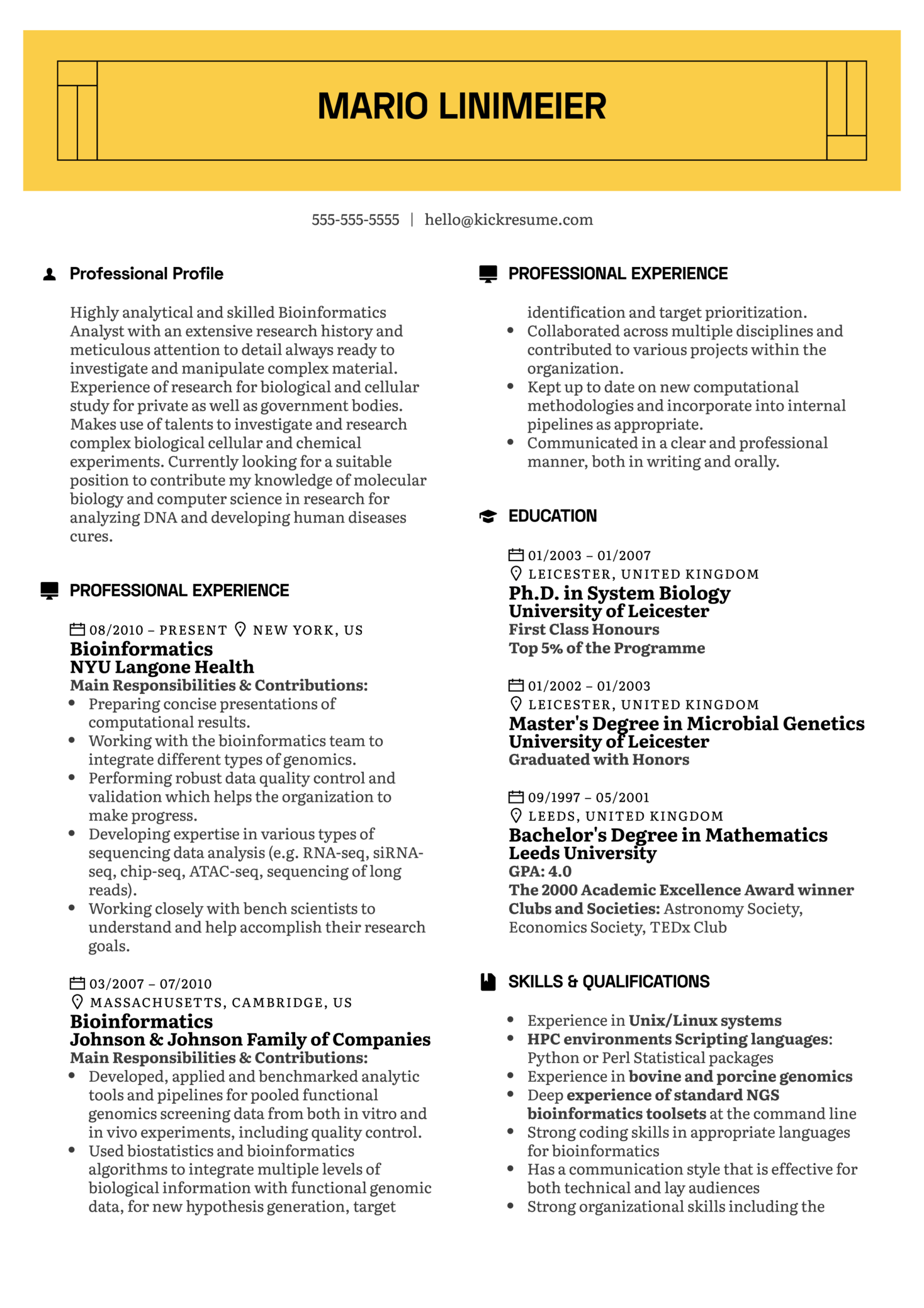 image Objectives On Bioinformatics Scientist Resume on