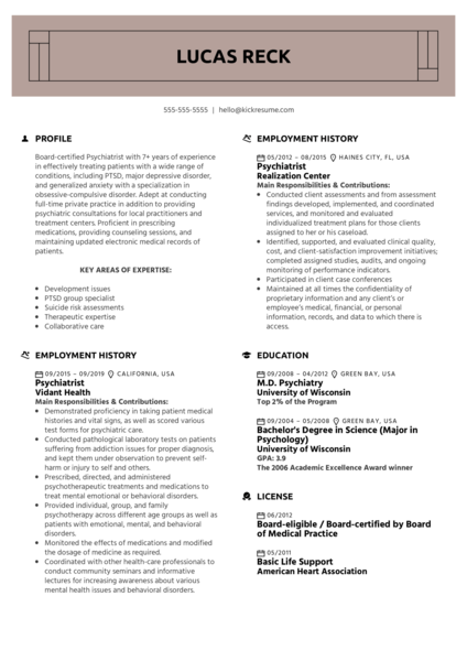psychology resume samples from real professionals who got