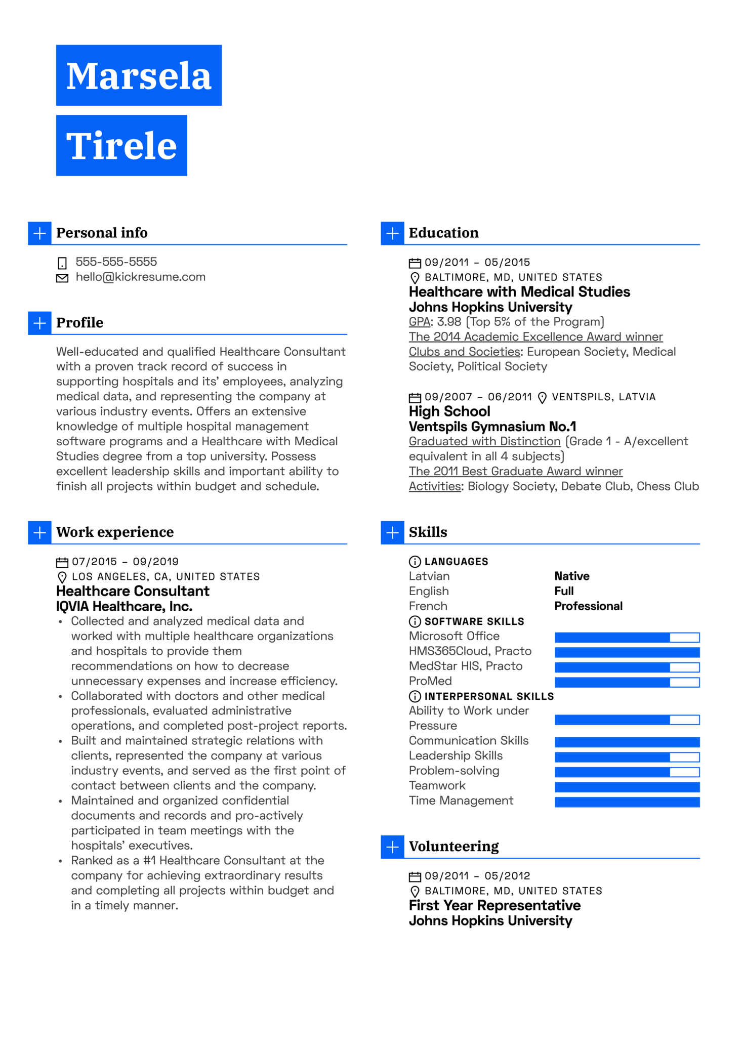 resume examples by real people  healthcare consultant resume example