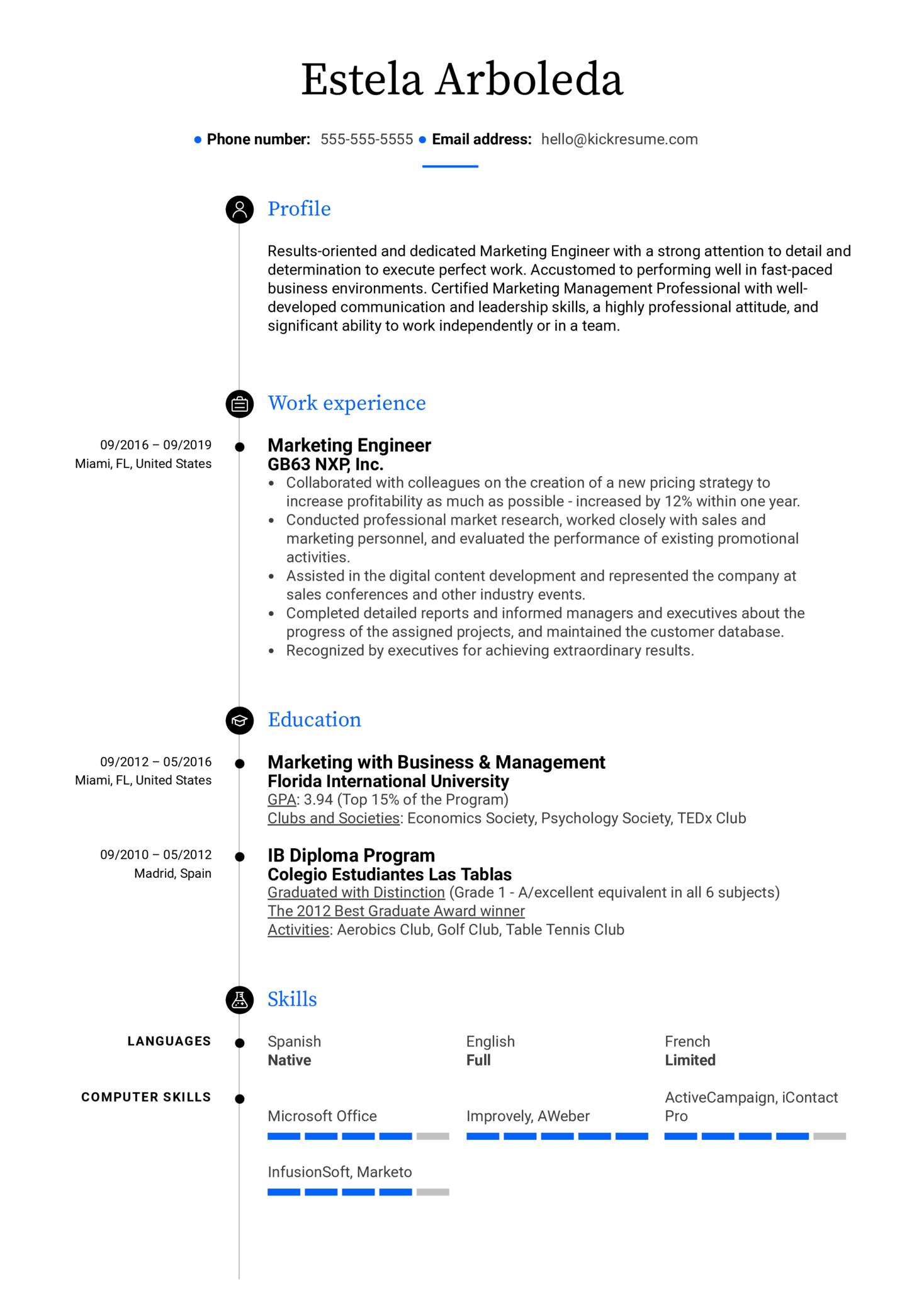 resume examples by real people  marketing engineer resume sample