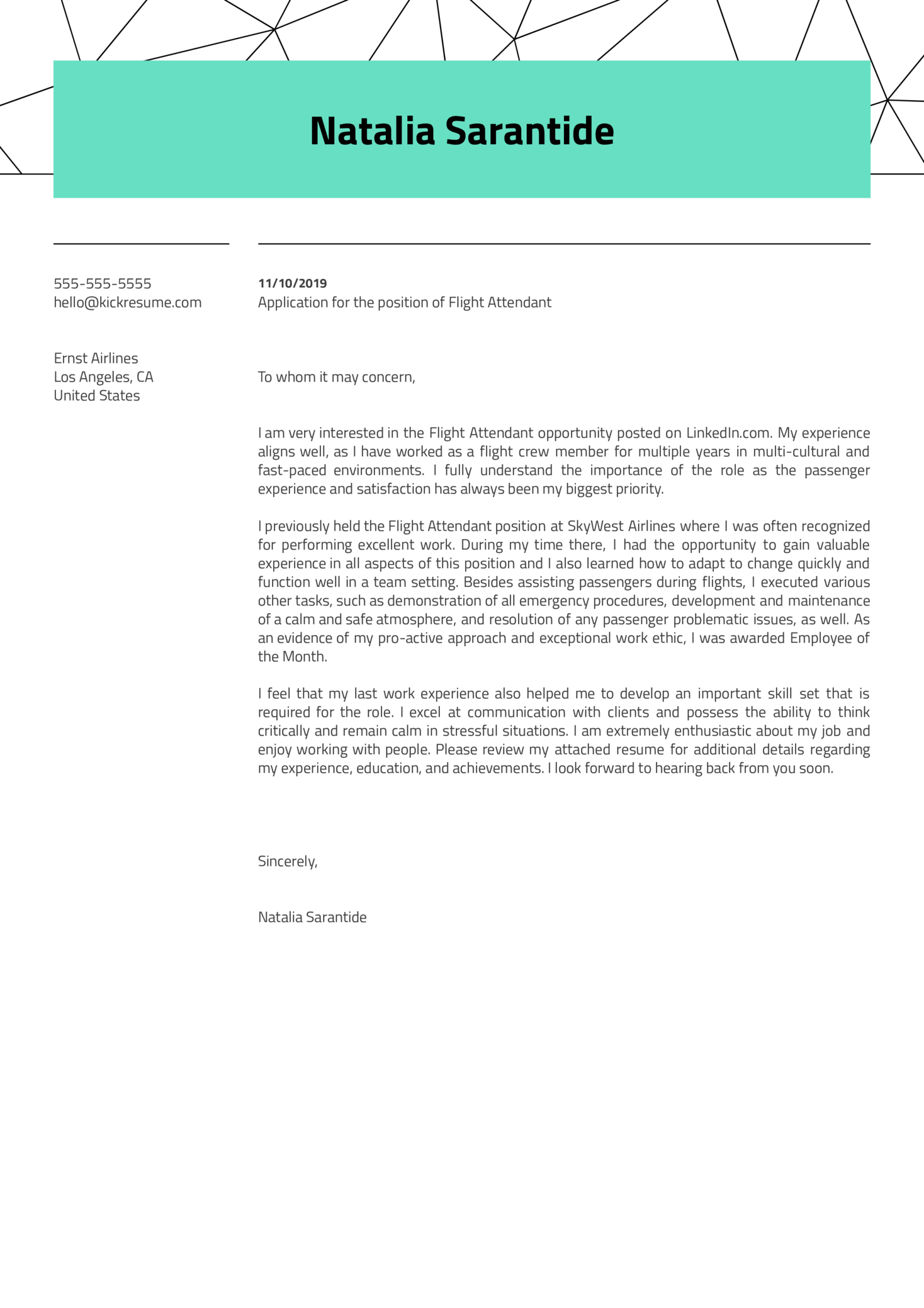image Template Cover Letter For Career Change Flight Attendant Example Vyxn on