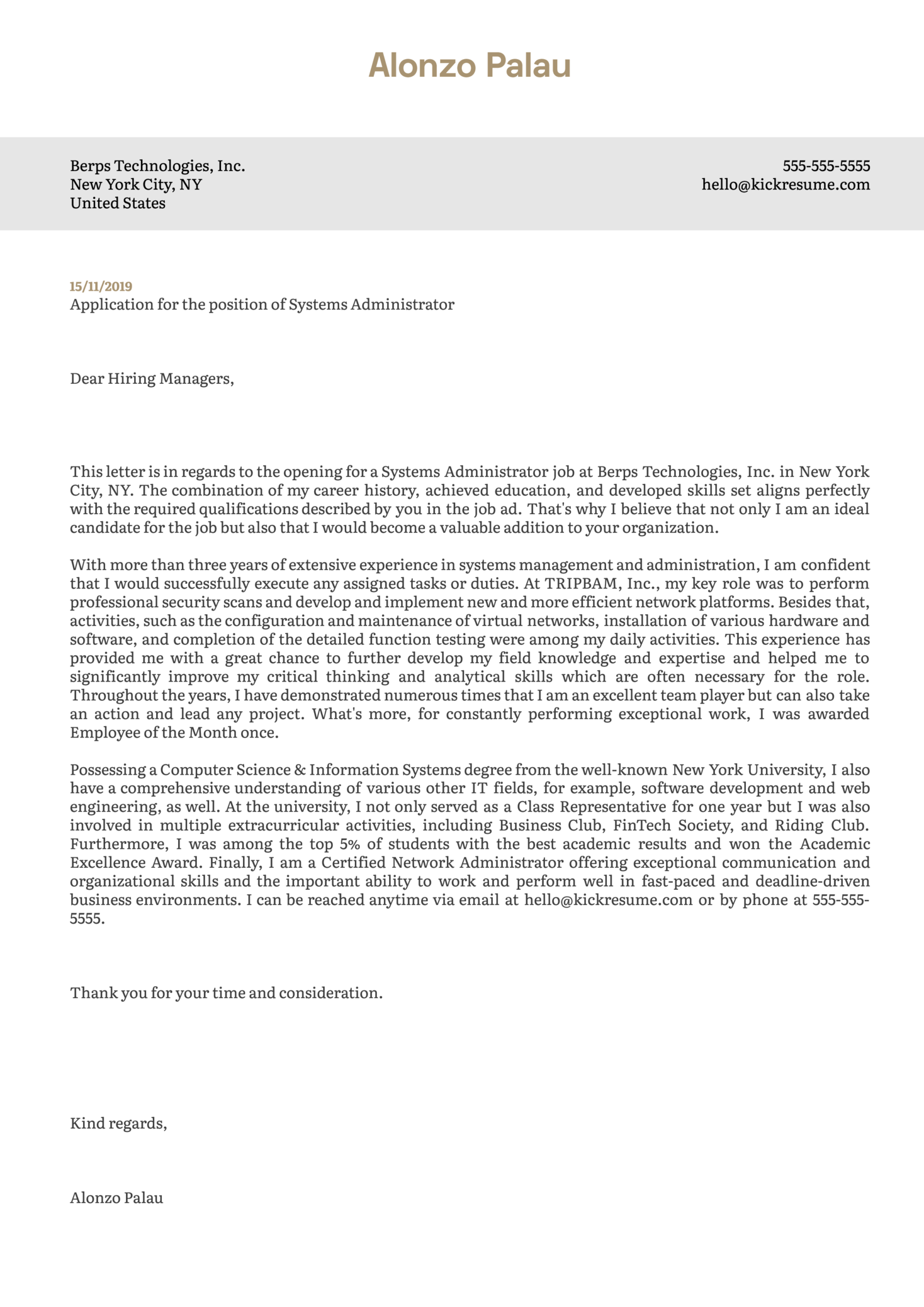 cover letter examples by real people  systems