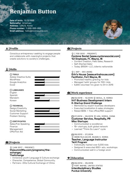 Event staff resume template