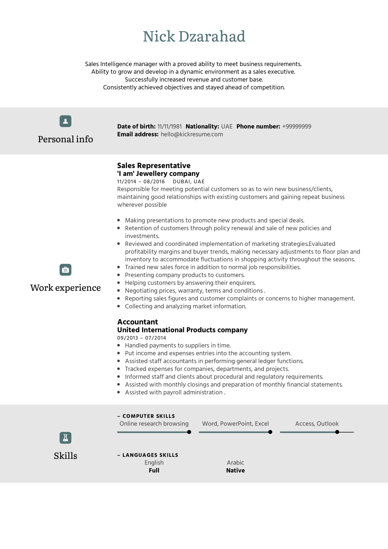 resume examples by real people  adidas sales representative resume template