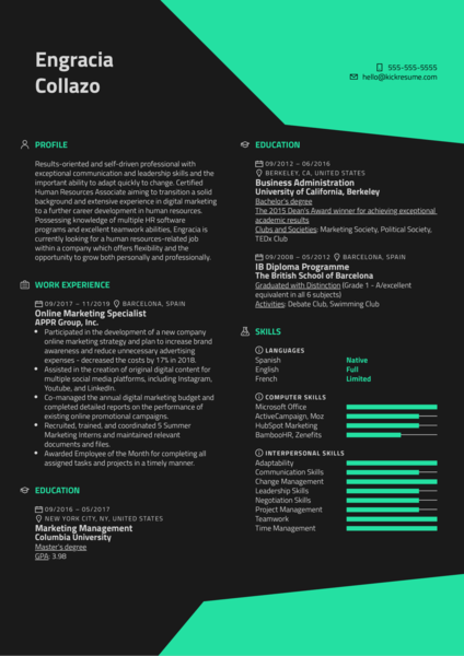 Career Change Resume Example