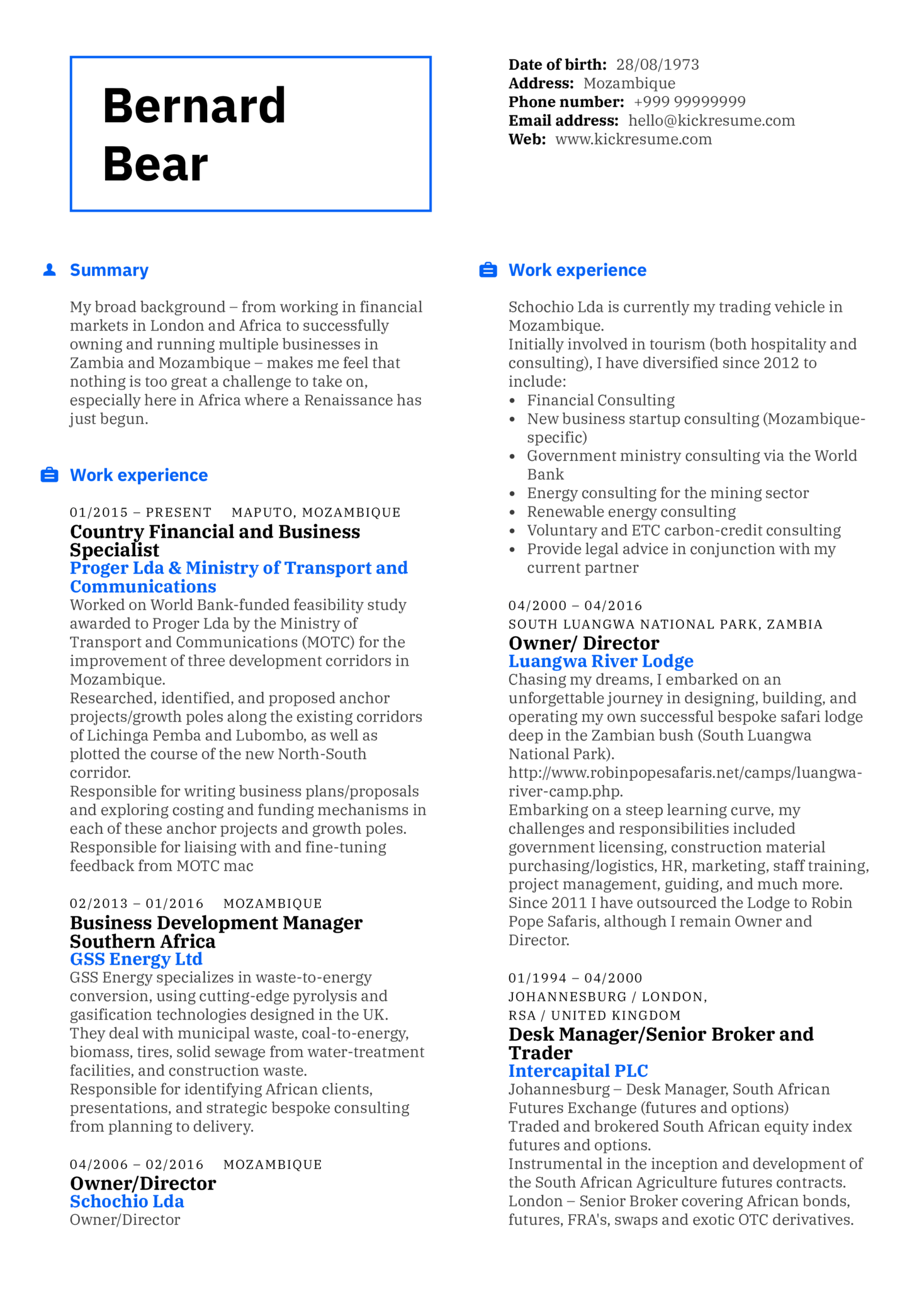Resume Examples By Real People Business Specialist Resume