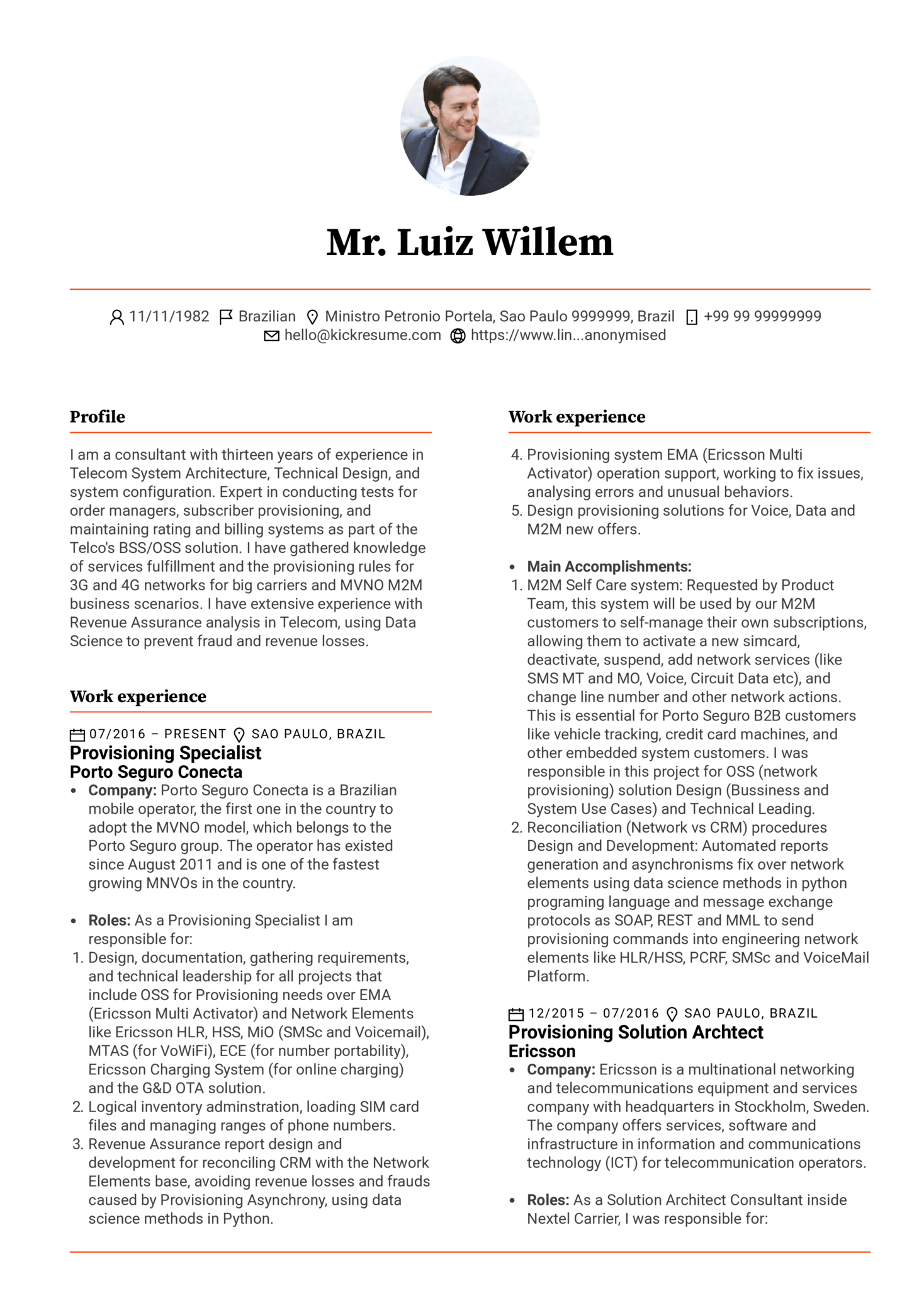 Resume Examples by Real People: Provisioning specialist resume ...