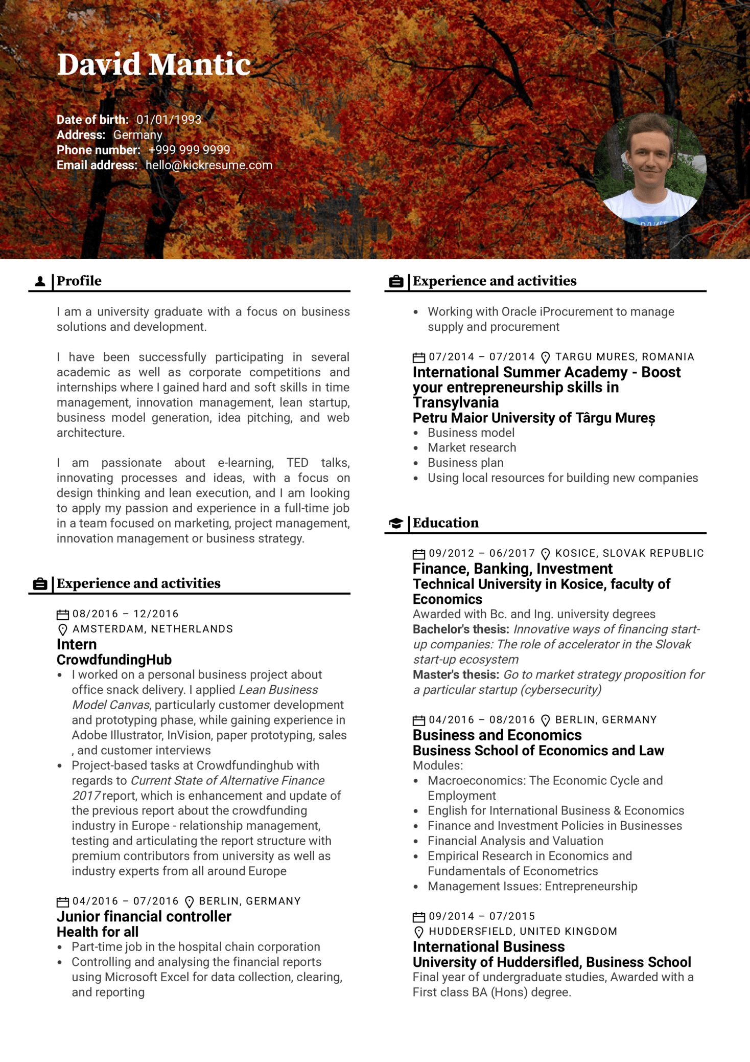resume examples by real people  telekom junior product manager resume sample