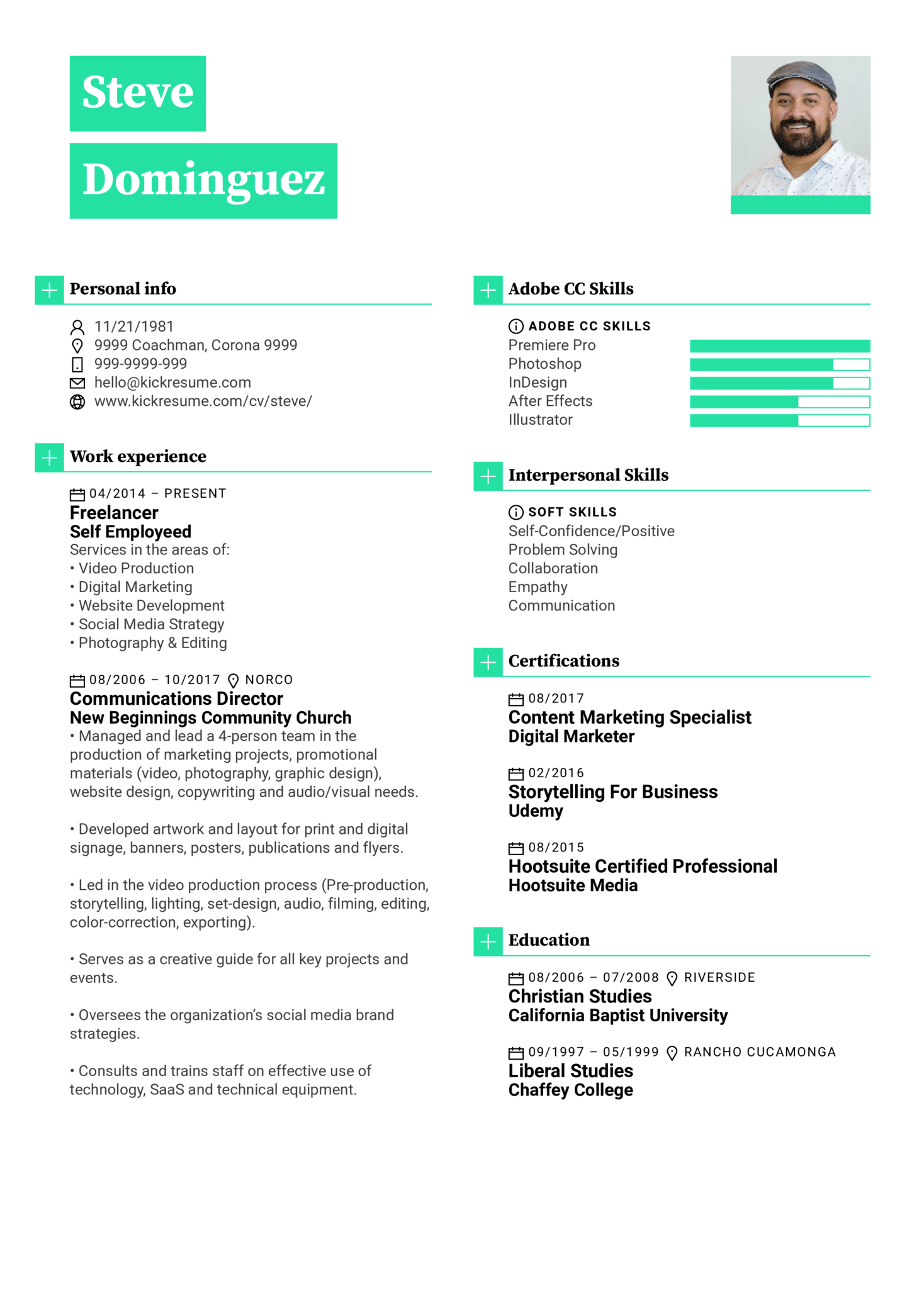 Graphic Designer Resume Sample (Parte 1)
