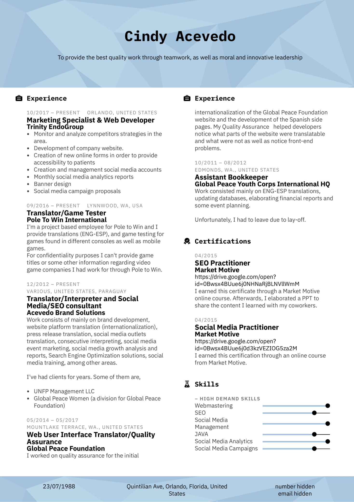 Marketing Coordinator Resume Template
