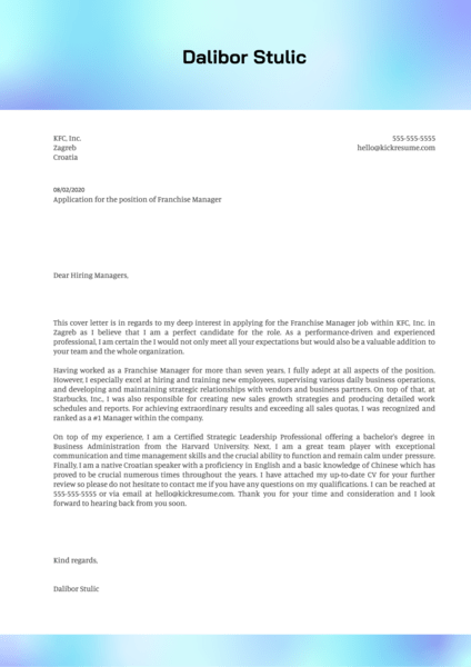 36+ Sophisticated Cover Letter General Manager  Collections