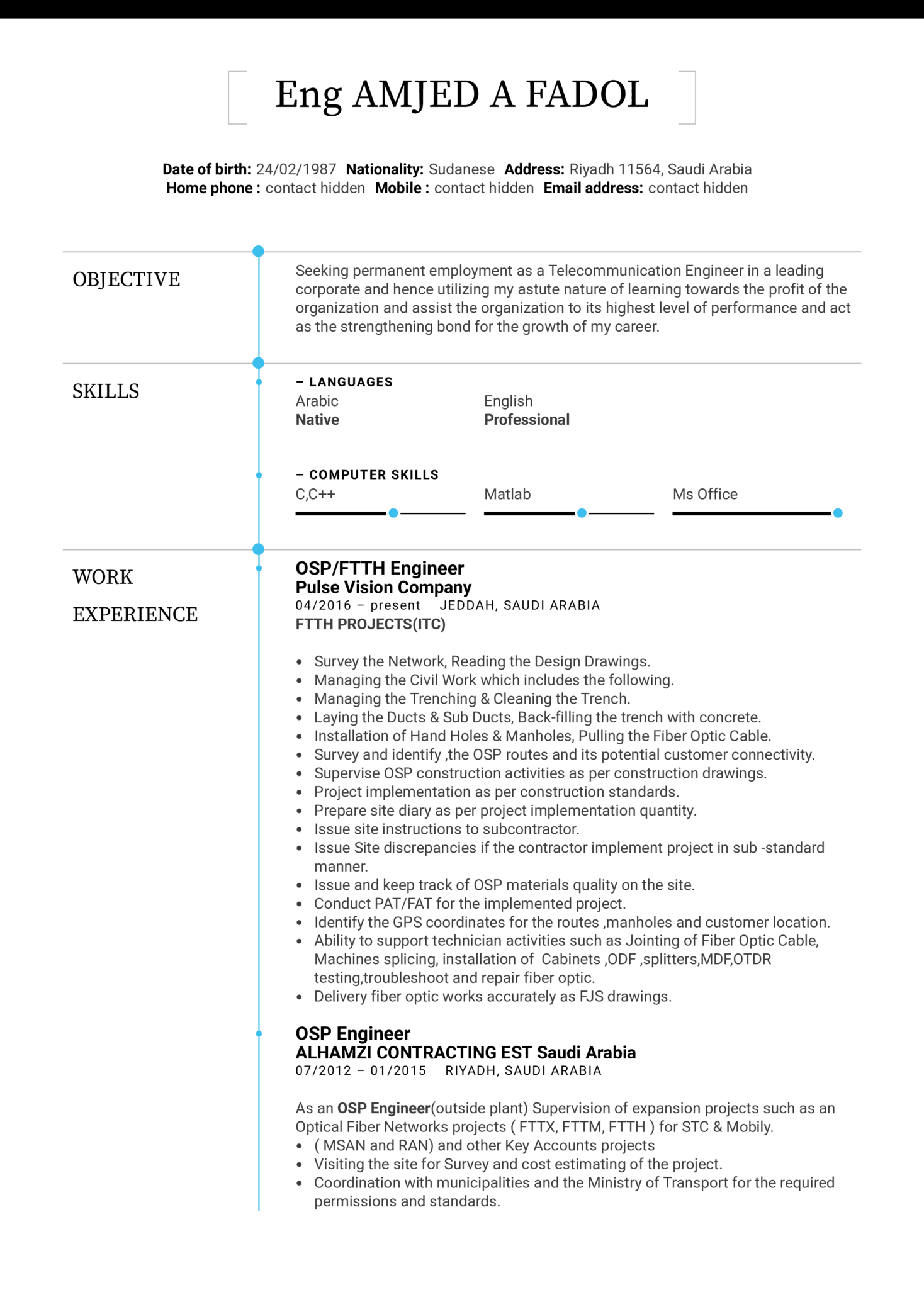 resume examples by real people  osp engineer resume