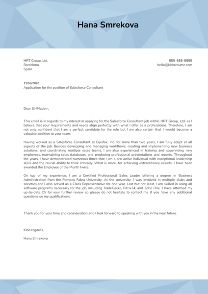 salesforce administrator    sales cover letter examples