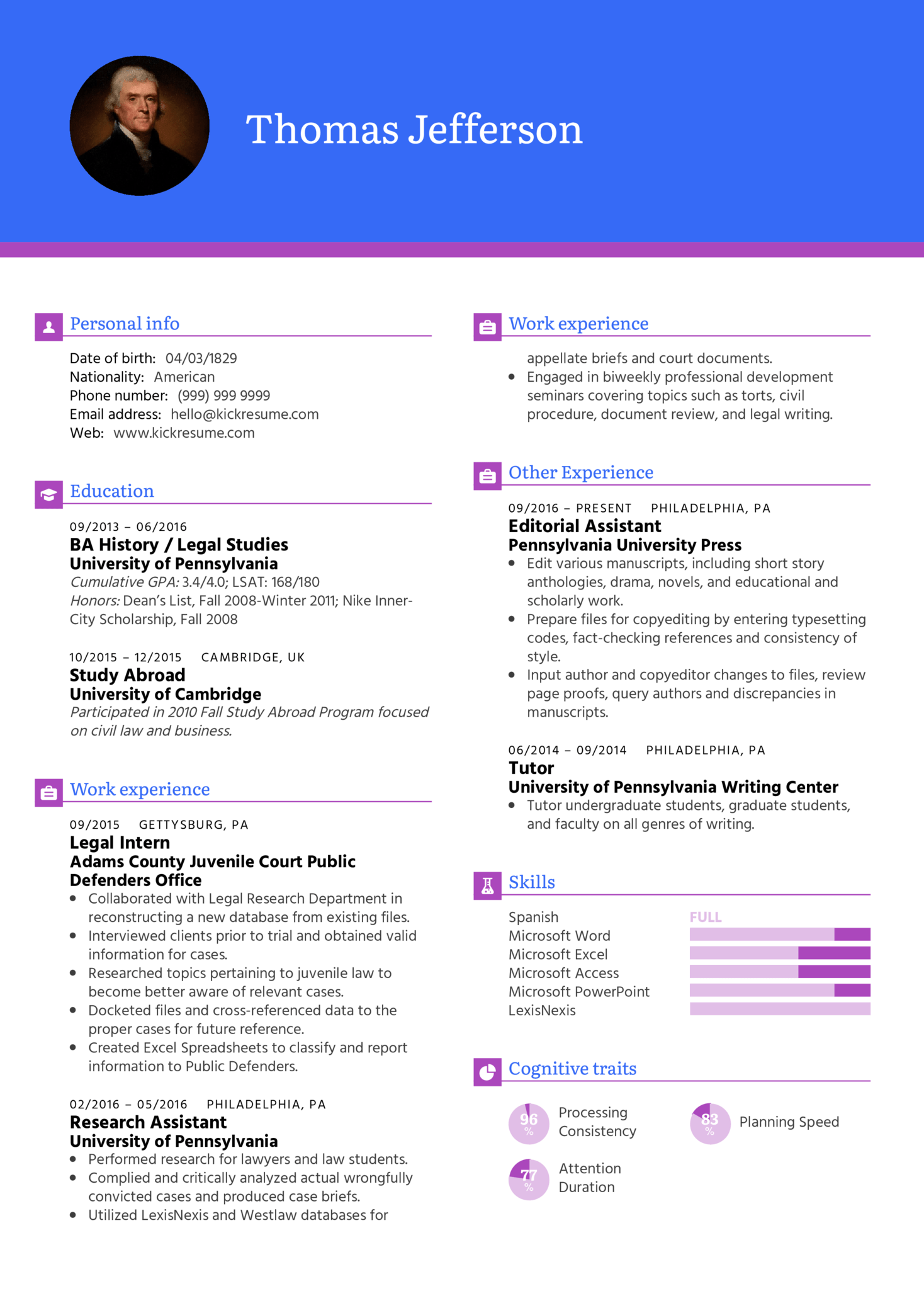 Resume Examples By Real People Student Resume Pre Law Kickresume