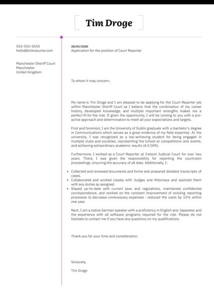 Legal Cover Letter Examples Kickresume