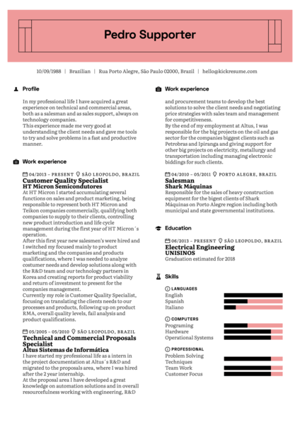 Release Manager Resume Example at Vodafone